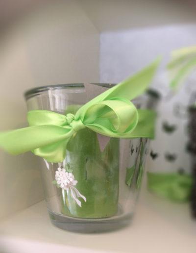 Kerze Grün im Glas